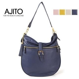 Picture of AJITO Faux-Leather Hobo 1022399685 (AJITO, Hobo Bags, Korea Bags, Womens Bags, Womens Hobo Bags)