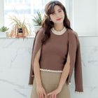Set: Frilled Cardigan + Knit Tank Top 1596