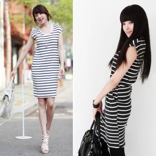 Buy Envy Look Short-Sleeve Stripe T-Shirt Dress 1022717334