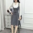 Strappy Knit Dress 1596