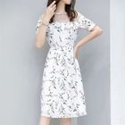 Short-Sleeve Ruffle Floral Dress 1596