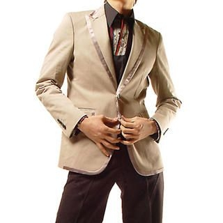 Buy Purplow Satin-Trimmed Cotton Blazer 1004594058