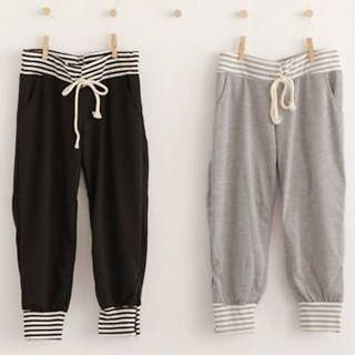 Buy ZOO Stripe-Trim Cropped Sweatpants 1022781040
