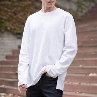 Round-Neck Slit- Side T-Shirt 1054850334
