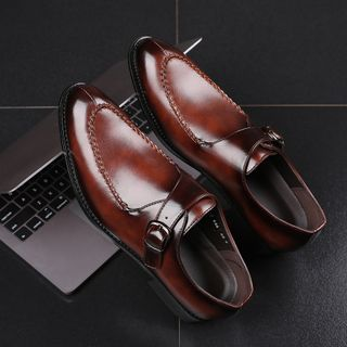 Image of Buckled Slip-On Dress Shoes