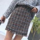 Plaid Mini Skirt 1596
