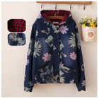 Hooded Floral Print Denim Jacket от YesStyle.com INT