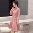 Button A-Line Dress 1596