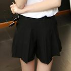 Zip-Side Pleated Shorts 1596