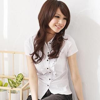 ruffle-accent-blouse