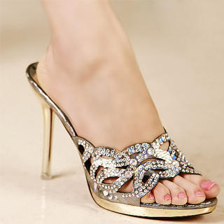 Buy Kvoll Rhinestone Cutout Sandals 1023009811