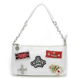 Buy Vemo Handbag with Emblems white-one size 1022885309