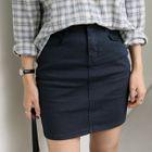 Flat-Front Pencil Skirt 1596