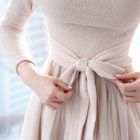 Tie-Waist Tulle A-Line Maxi Dress 1596