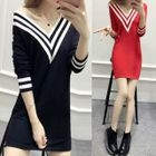 V-neck Knit Dress 1596