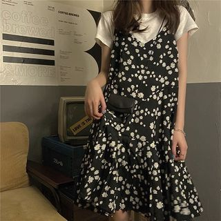 Short-sleeve | Spaghetti | Cardigan | T-Shirt | Floral | Strap | Dress