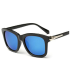 Square Sunglasses Type 8 - Bright Black  Green Lens - One Size от YesStyle.com INT