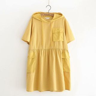 Babydoll | Yellow | Check | Dress | Hood | Size | One