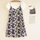 Maternity Set: Short-Sleeve T-Shirt + Strappy Dress 1596