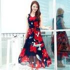 Floral Sleeveless Maxi Chiffon Dress 1596