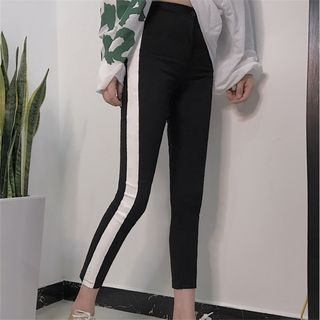 Cropped Two-Tone Sweatpants 1062527927