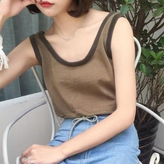 Tipped Tank Top 1061233292