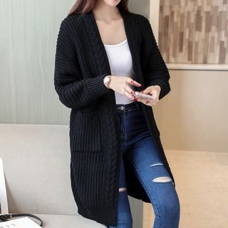Ribbed Long Cardigan 1062976228
