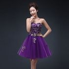 Strapless Embellished Mini Prom Dress 1596