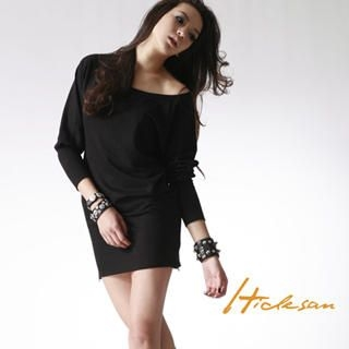 Buy HIDESAN Round Neck Side Zip Dress 1021483925