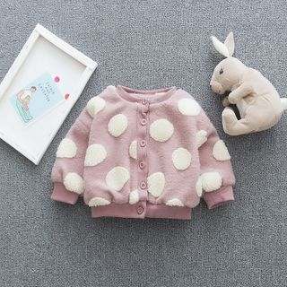 Image of Kids Dotted Buttoned Jacket