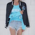 Slit-Sleeve Lettering T-Shirt от YesStyle.com INT