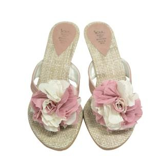 Picture of AKA Rosette Accent Slippers 1022946463 (Other Shoes, AKA Shoes, Korea Shoes, Womens Shoes, Other Womens Shoes)