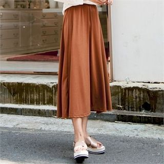 Band-Waist Long Skirt 1052754200