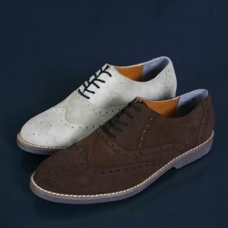 Buy ISNOM Faux Suede Oxfords 1022366973