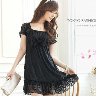 Buy Tokyo Fashion Short-Sleeve Empire Lace Dress 1022898098