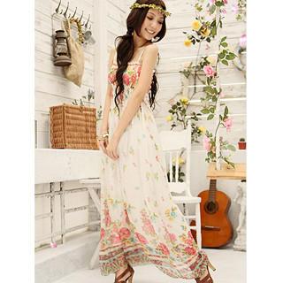 Buy Tokyo Fashion Floral Chiffon Maxi Dress 1022898281