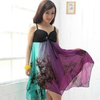 Buy MISIY Sleeveless Irregular-Hem Maxi Dress Magenta – One Size 1022945625
