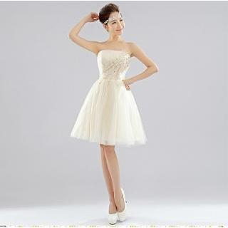 Strapless | Dress | Prom | Mini | Lace