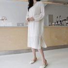 Round-Neck Shift Midi Dress 1596