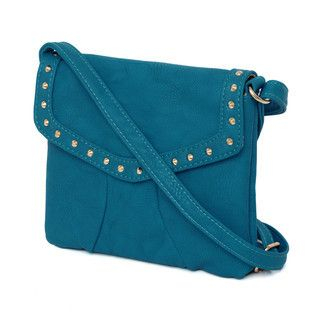 Cases & Bags Pyramid-Studded Mini Shoulder Bag Blue