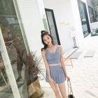 Set: Striped Tankini + Skirt 1596
