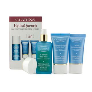 HydraQuench Moisture Replenishing System: Intensive Serum + Cream 15ml + Cream-Mask 15ml 3pcs