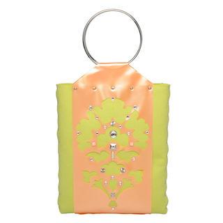 Thistle Tote Bag Orange & Green - One Size 1034606502
