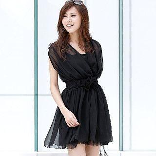 Buy 59th Street Set: Chiffon Wrap Dress + Slipdress + Belt 1022779856
