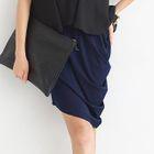 Asymmetric Draped Pencil Skirt 1596