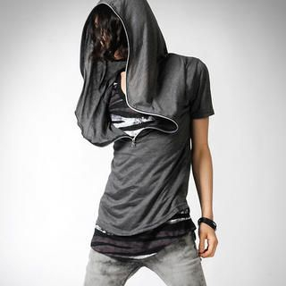 Buy deepstyle Short-Sleeve Zip-Hood Top 1022767896
