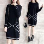 Patterned Knit Dress 1596