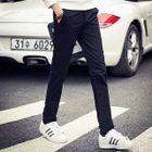 Fleece-Lined Straight-Leg Pants 1596