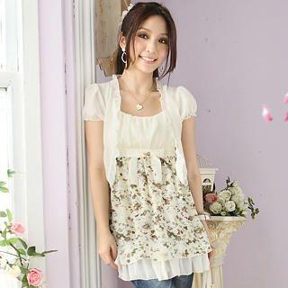 Buy Tokyo Fashion Set: Chiffon Bolero + Floral Print Sundress 1022911818