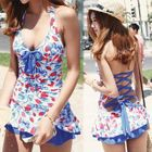 Bow-Accent Ruffled Swimsuit 1596